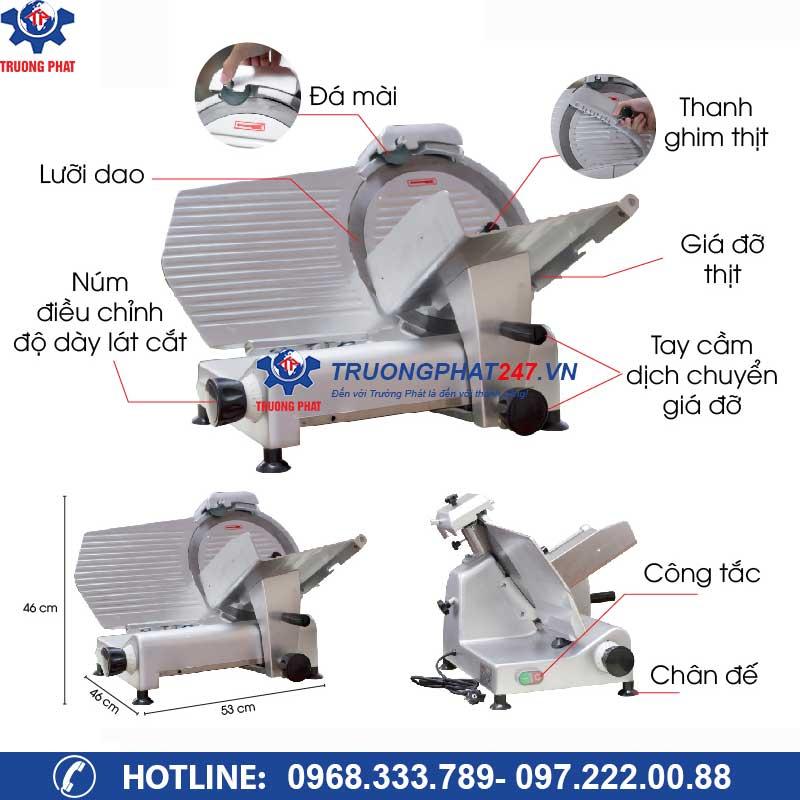 cấu tạo máy thái thịt es-300