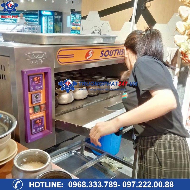 lò nấu cơm niêu 1 tầng 2 khay Trường Phát
