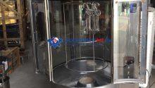 Dây chuyền sản xuất xúc xích công nghiệp, máy đùn xúc xích bằng hơi SGI-III, máy xay , lò xông khói