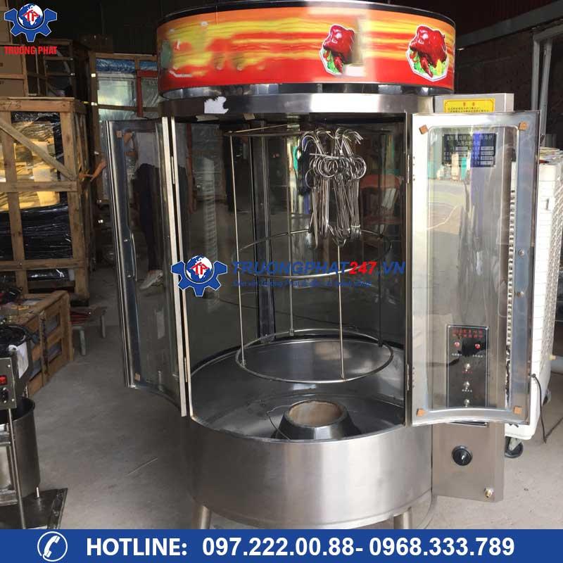 Lò quay gà vịt heo than gas 850 ( 2 chức năng)