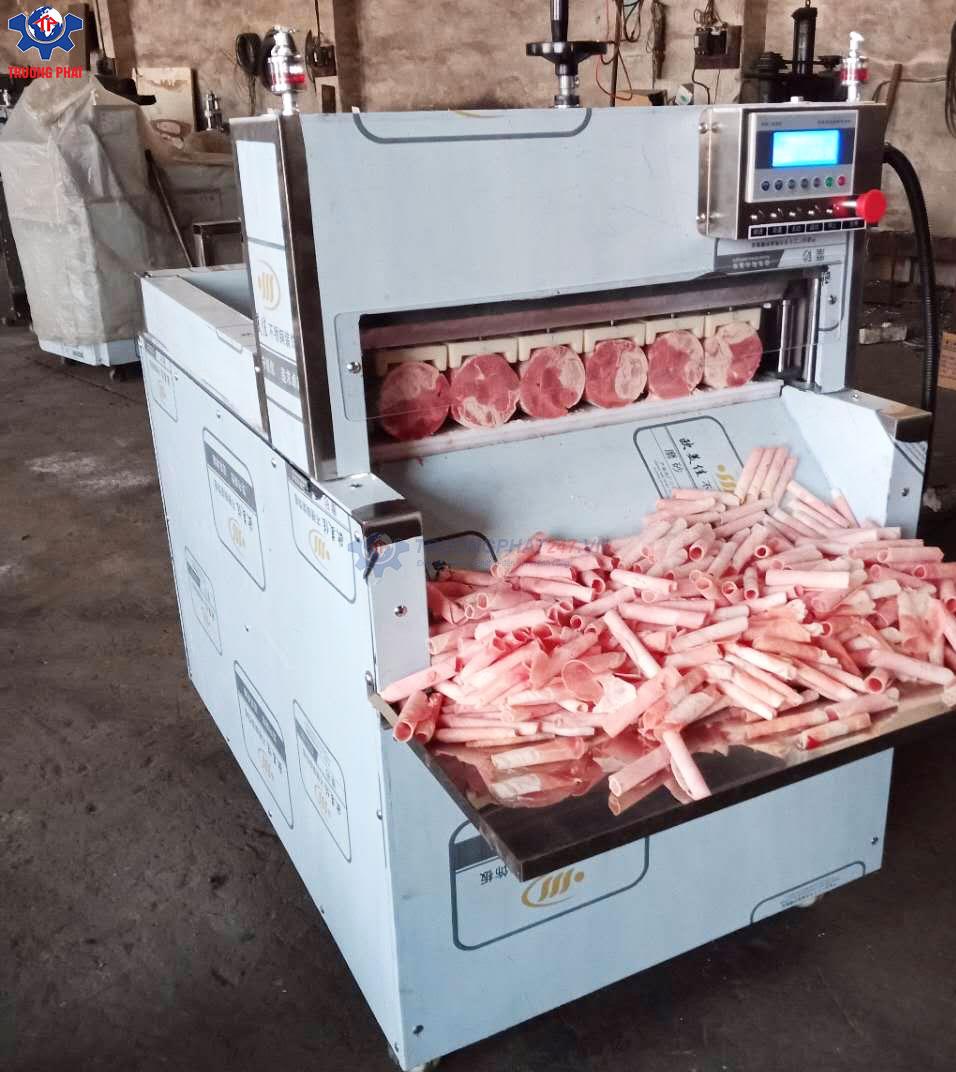 máy cắt thịt đông lạnh 6 cuộn
