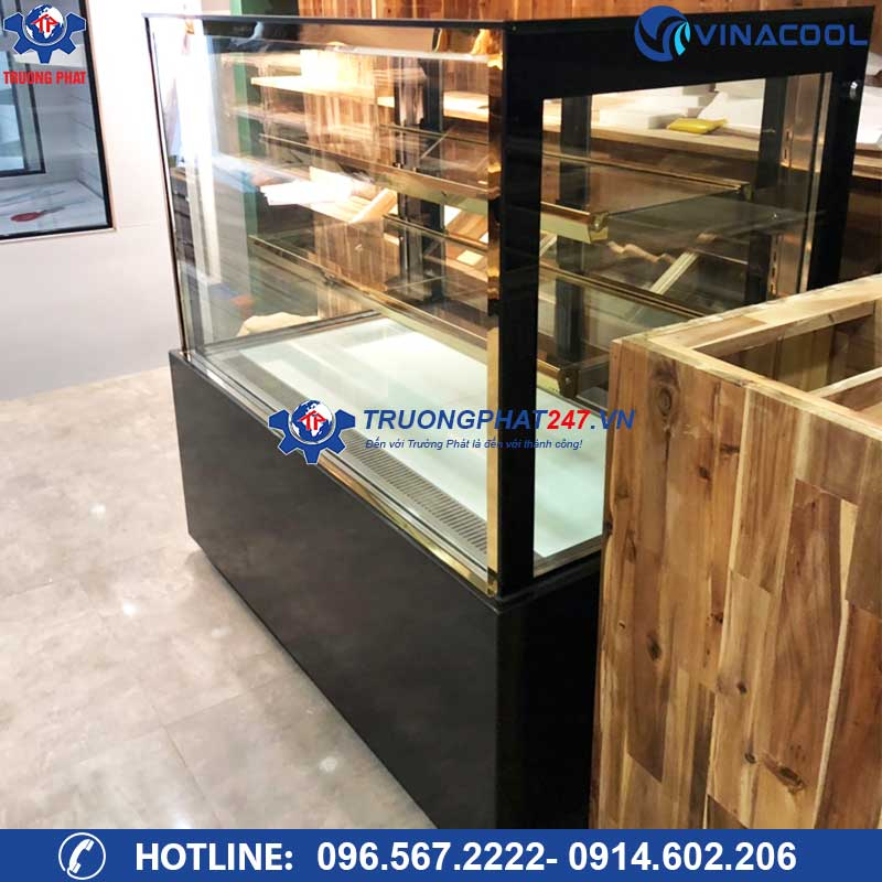 tủ mát trưng bày bánh kem kính vuông 90cm