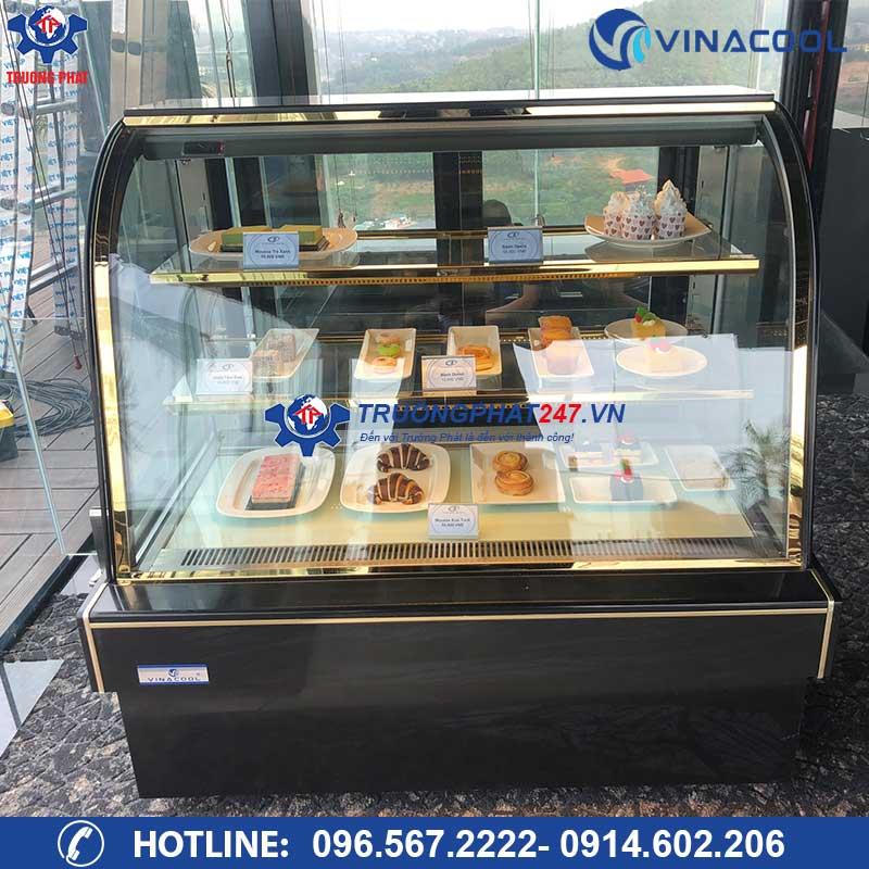 Tủ trưng bày bánh kem, bánh ngọt kính cong DH-1200 (1m2)