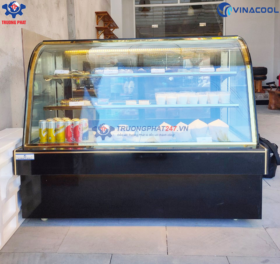 tủ bánh kem cong dài 1m5