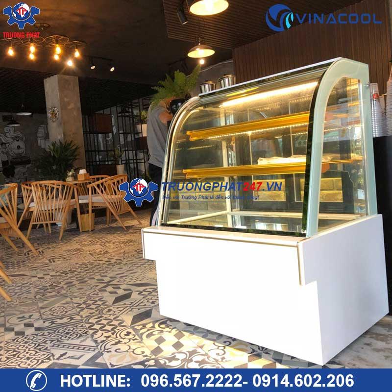 Tủ bánh quán cafe kính cong DH-900 ( Dài 90cm)