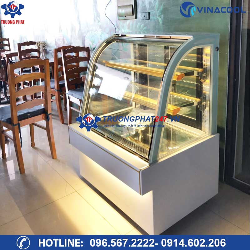 tủ bảo quản bánh kem 3 tầng trắng