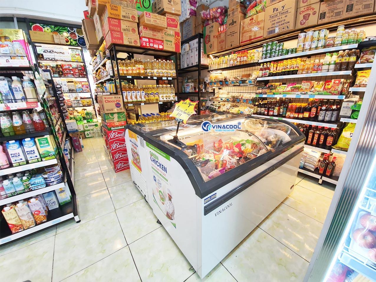 tủ đông trưng bày thực phẩm siêu thị dài 1m5