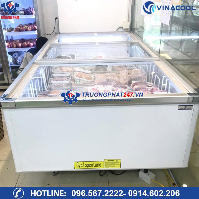 tủ đông trưng bày thực phẩm dung tích lớn