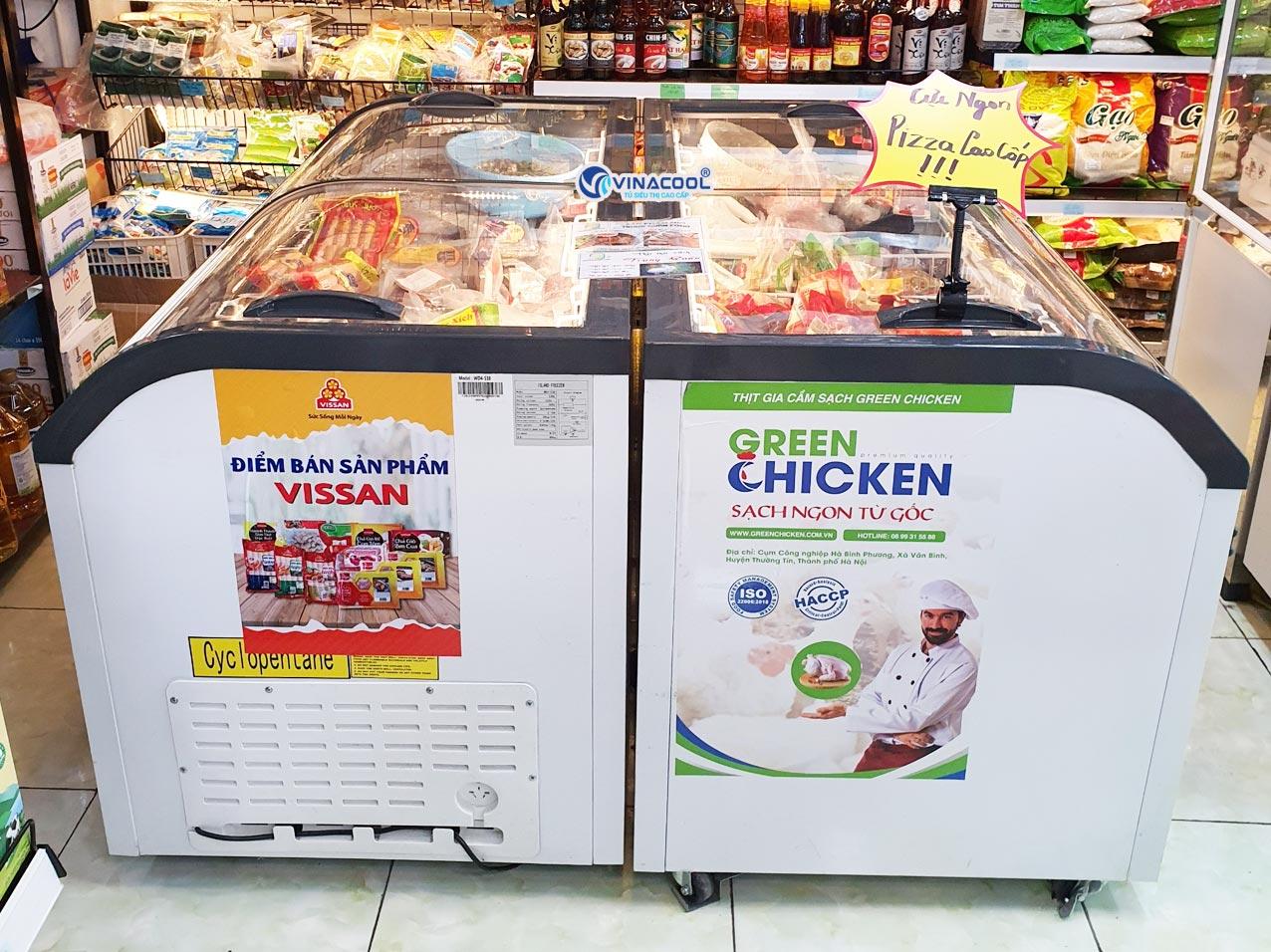 tủ đông siêu thị dài 1m5