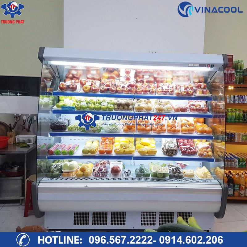 Tủ mát siêu thị trưng bày rau củ quả SLG-2000FB vòm cong