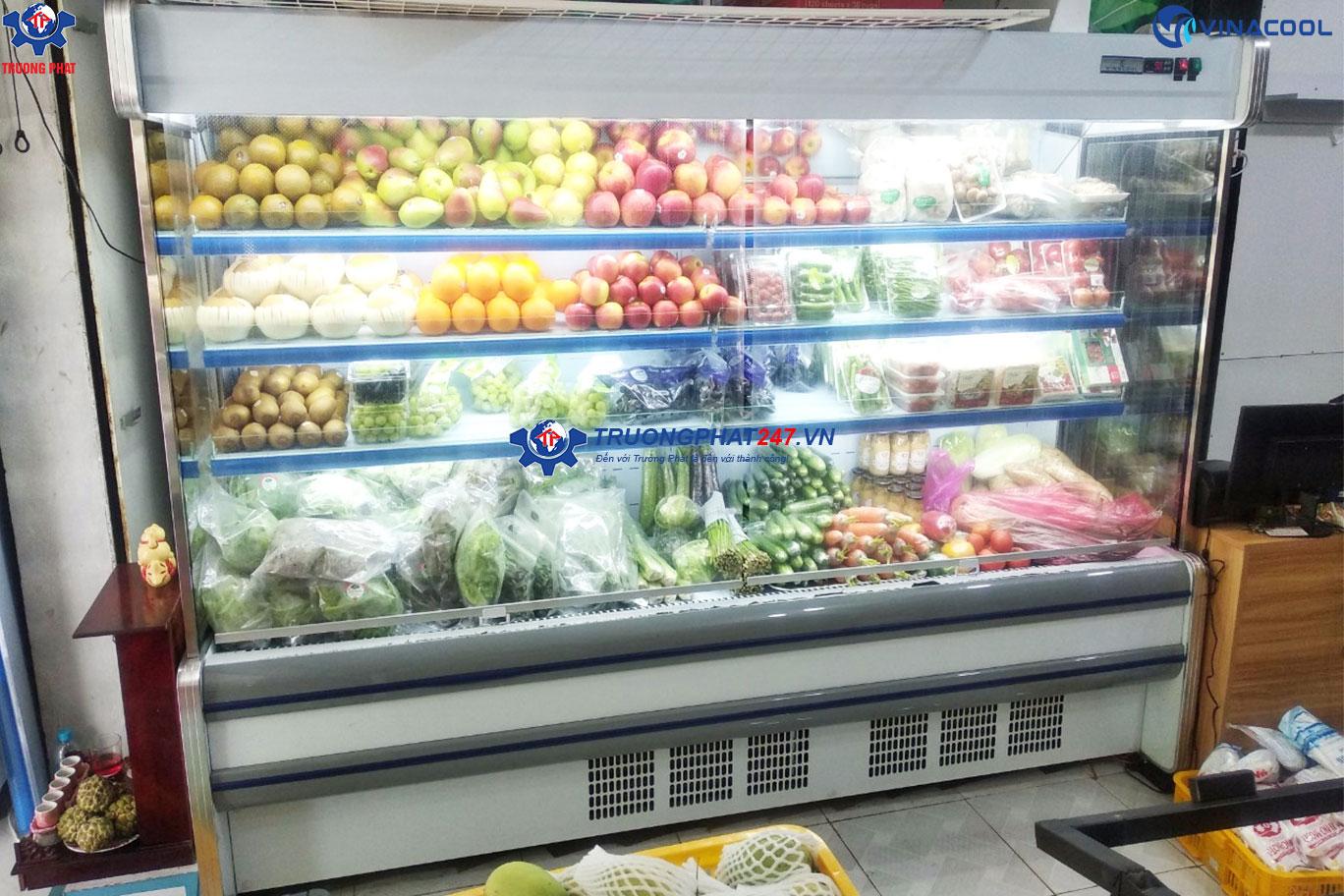tủ rau siêu thị 2m5