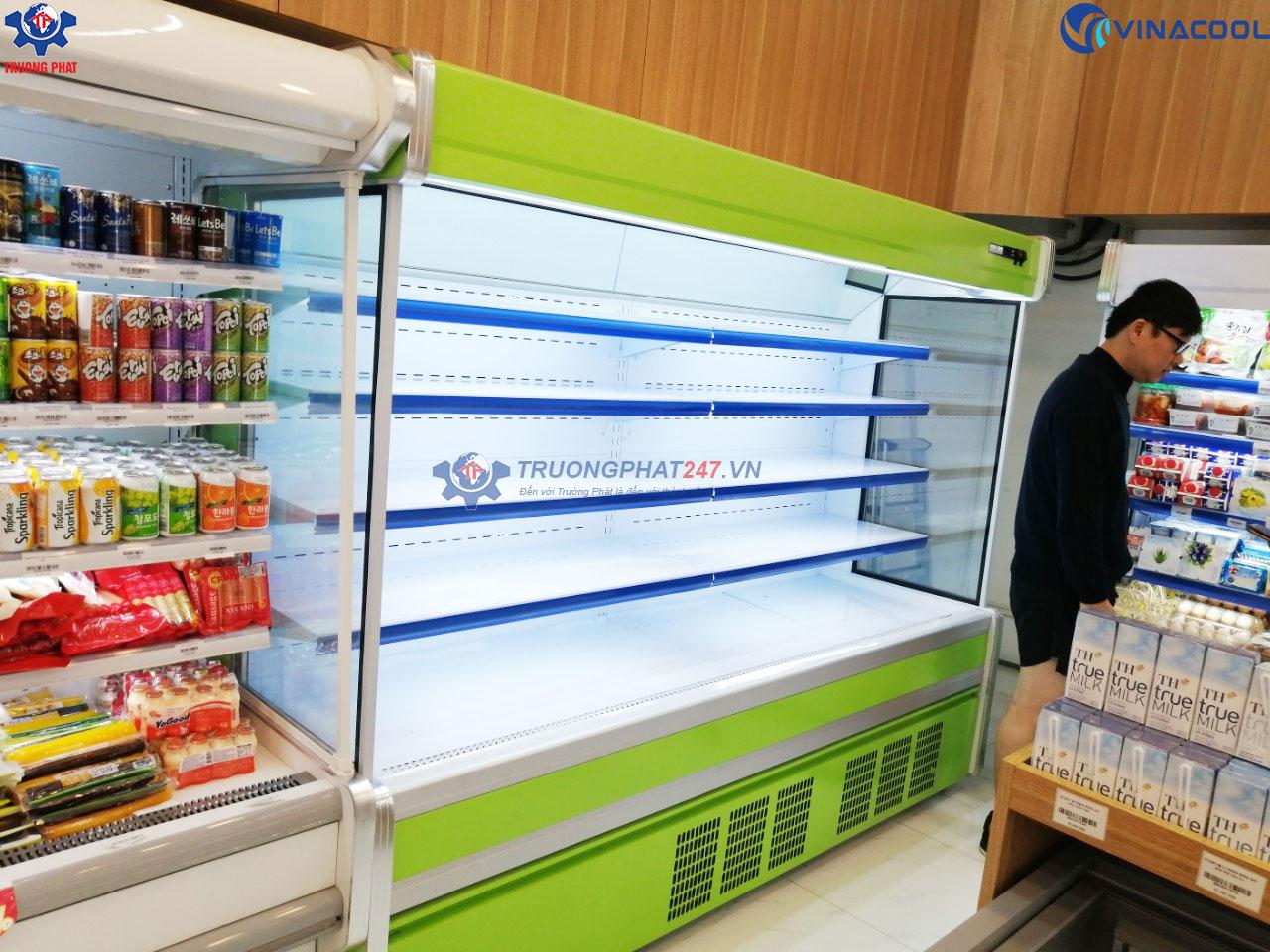 tủ làm mát rau siêu thị dài 2m5