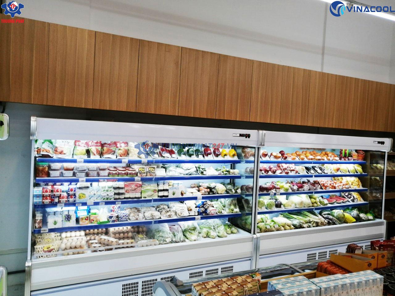 tủ siêu thị không cửa dài 2m5
