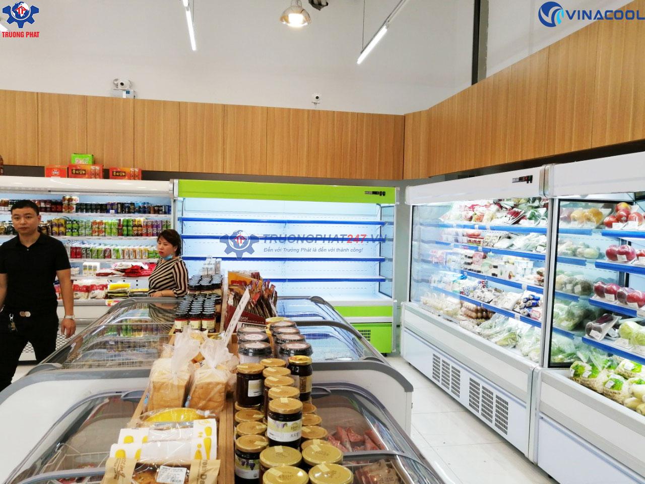 tủ mát cho siêu thị minimart