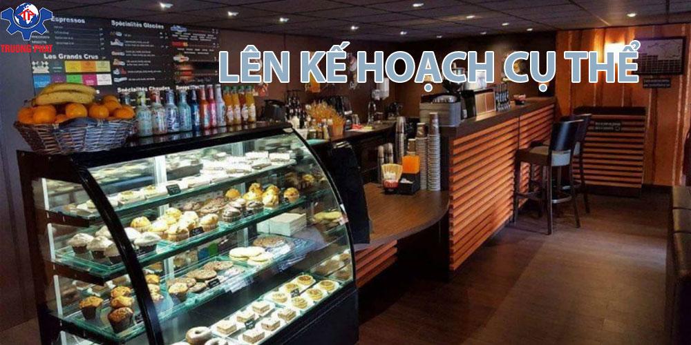 kế hoạch cafe tiệm bánh