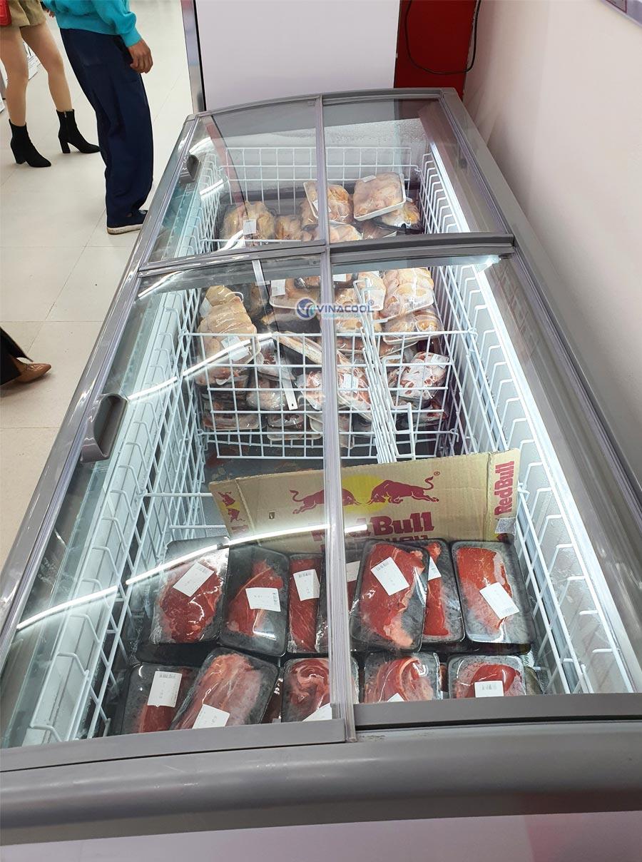 tủ đông trưng bày thịt cá giá rẻ