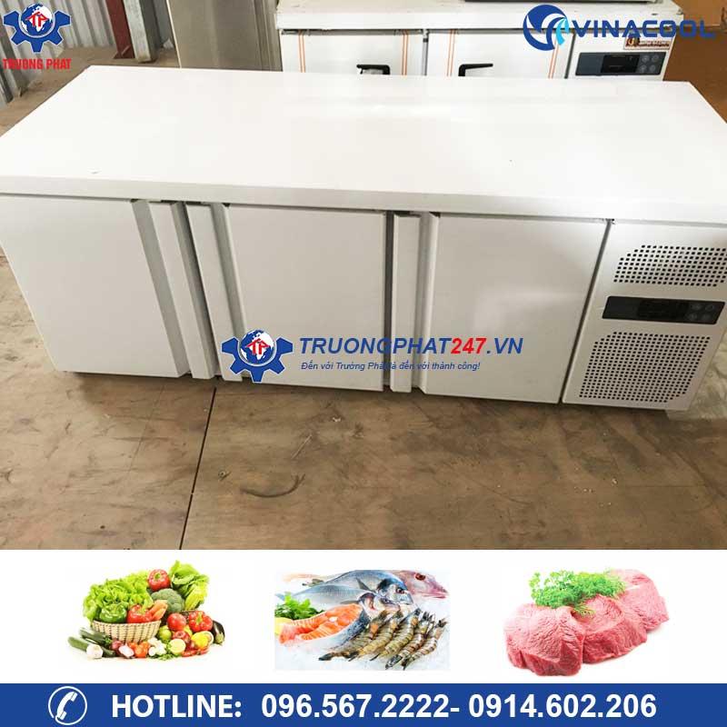Tủ lạnh bàn thớt inox 3 cánh