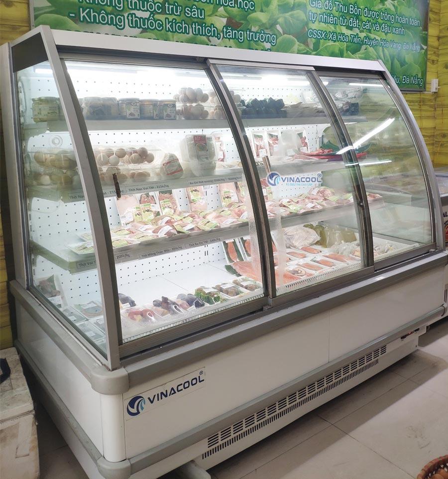 tủ mát trưng bày thịt tươi 4 tầng vinacool