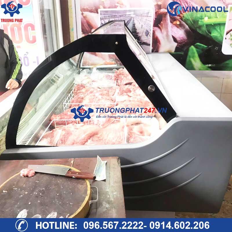 tủ bảo quản thịt tươi 1m5 có sấy kính
