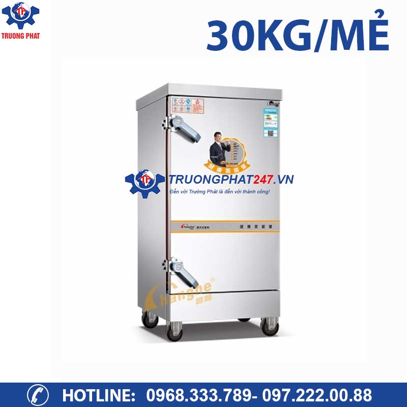 Tủ nấu cơm công nghiệp bằng điện 8 khay