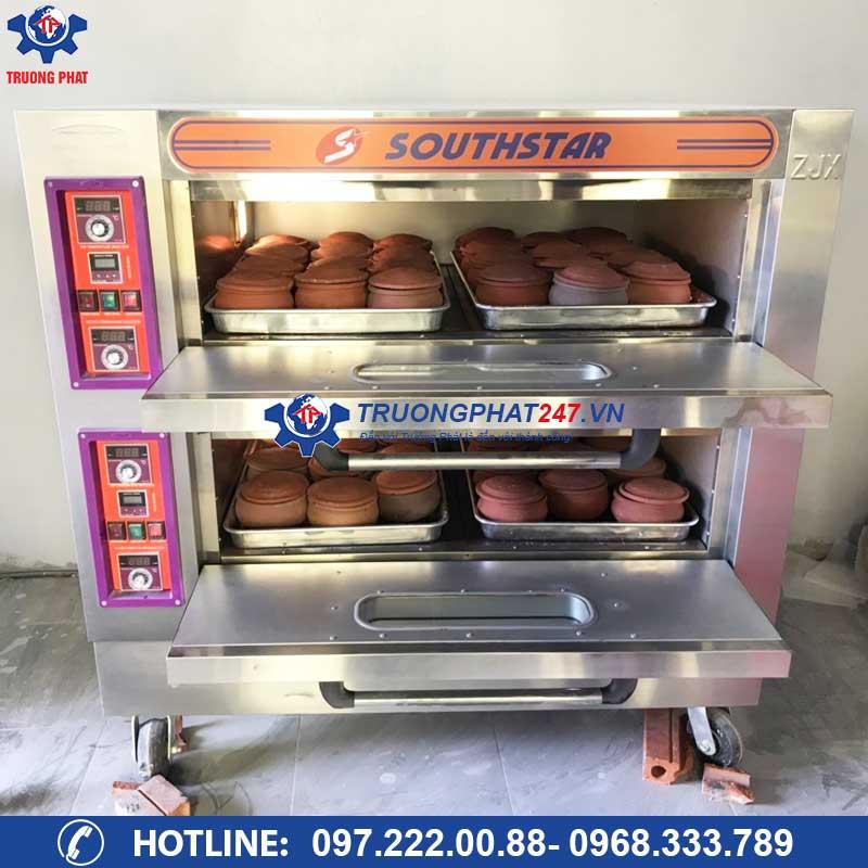 Lò nấu cơm niêu điện, gas 2 tầng 4 khay