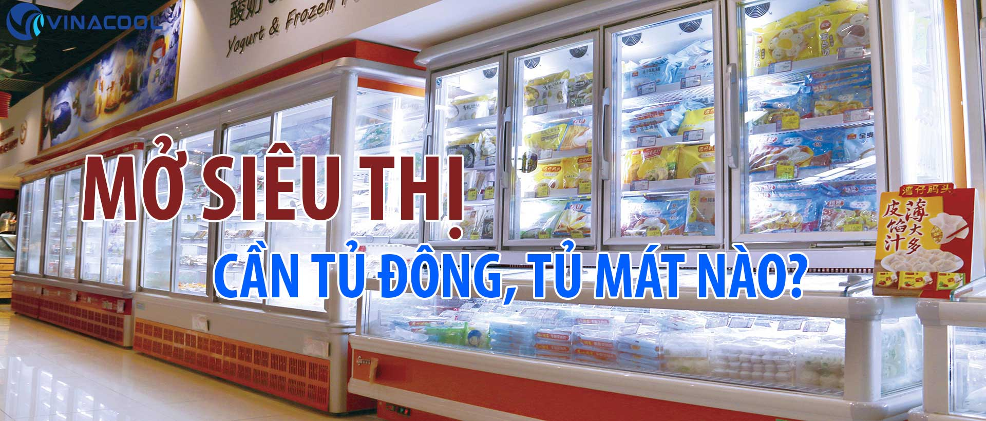 Mở siêu thị cần những loại tủ mát, tủ đông trưng bày nào?