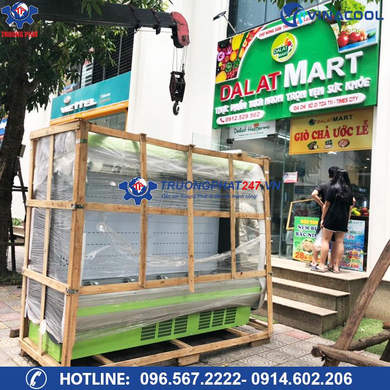 Lắp đặt hệ thống tủ mát trưng bày thực phẩm cho siêu thị Dalat Mart