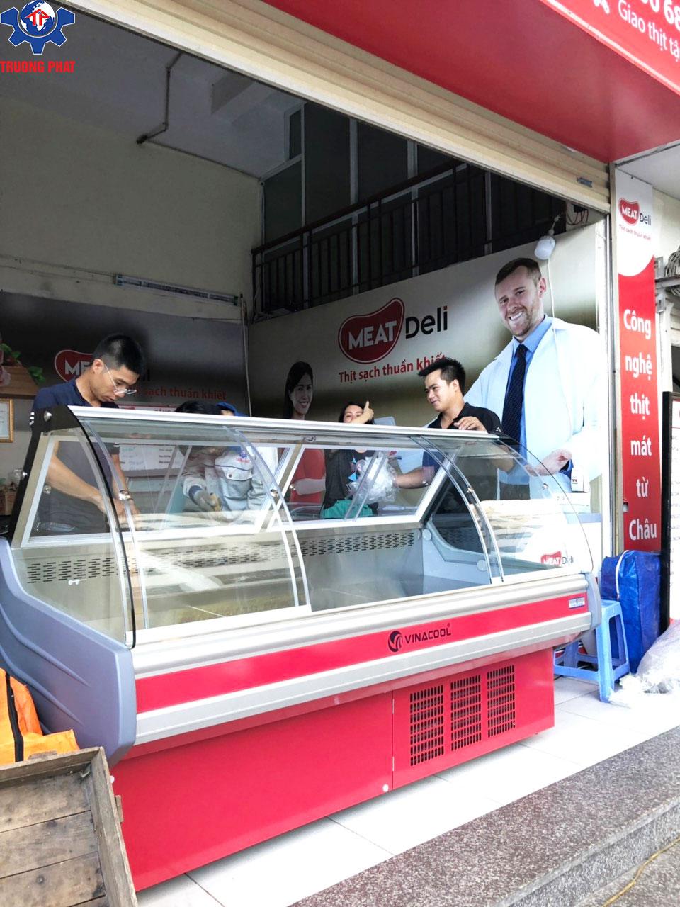 lắp đặt tủ thịt tươi tại Meat Deli
