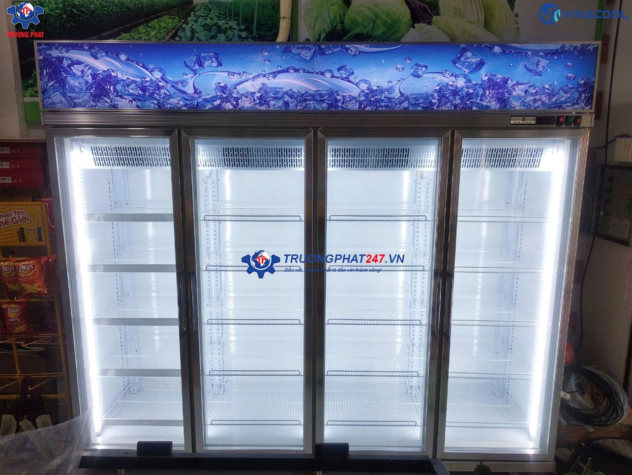 tủ đông đứng trưng bày 4 cánh kính