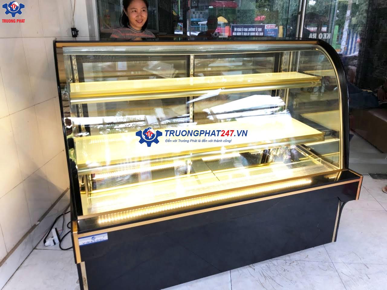 tủ bánh kem kính cong 3 tầng Trường Phát
