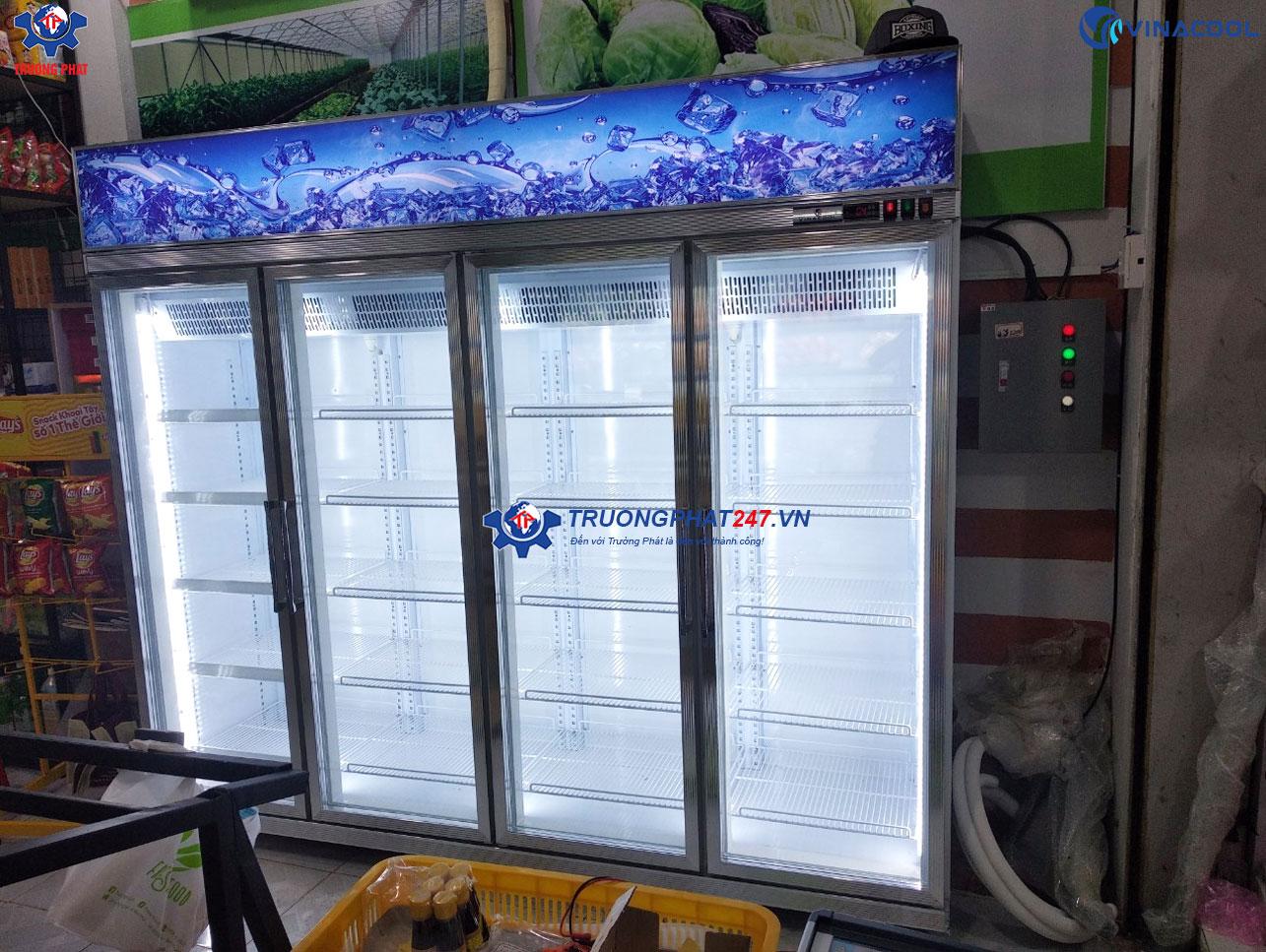 tủ đông bảo quản thực phẩm 4 cánh kính