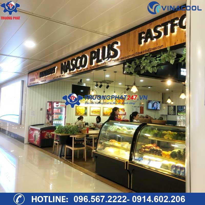 Dự án tủ mát đựng bánh ngọt, trái cây tại sân bay Nội Bài