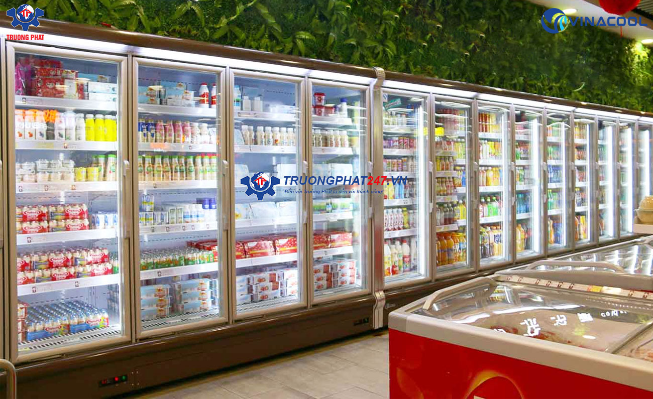 tủ trưng bày thực phẩm cánh kính kích thước theo yêu cầu