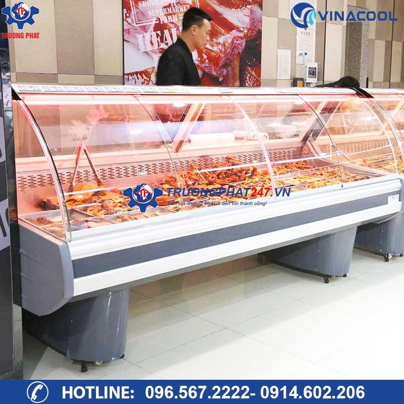 Tủ trưng bày thức ăn chín (Làm nóng)
