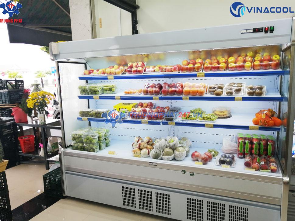 tủ mát siêu thị máy nén khí trong
