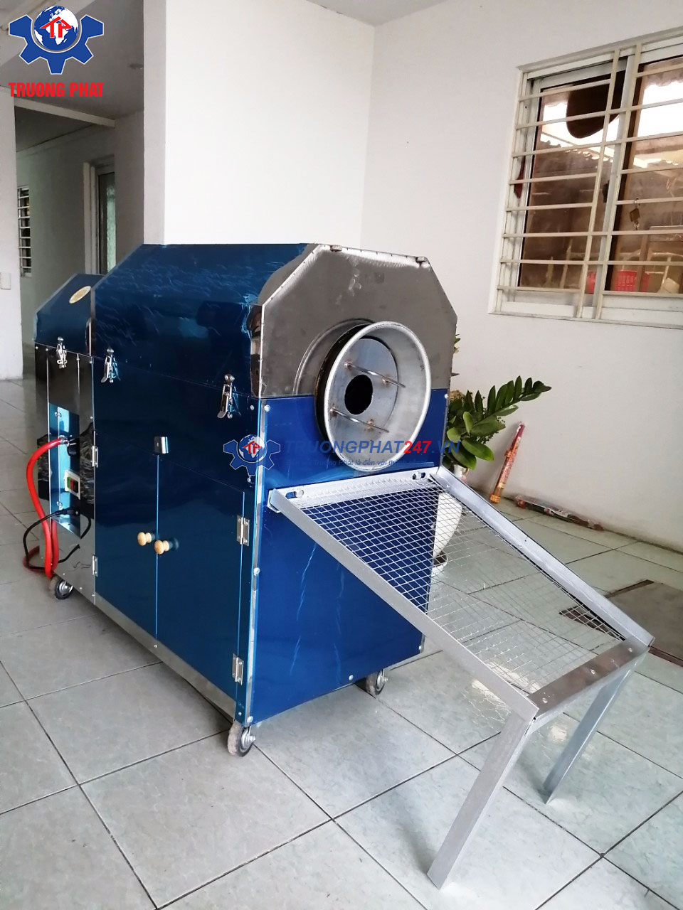máy rang hạt dùng gas