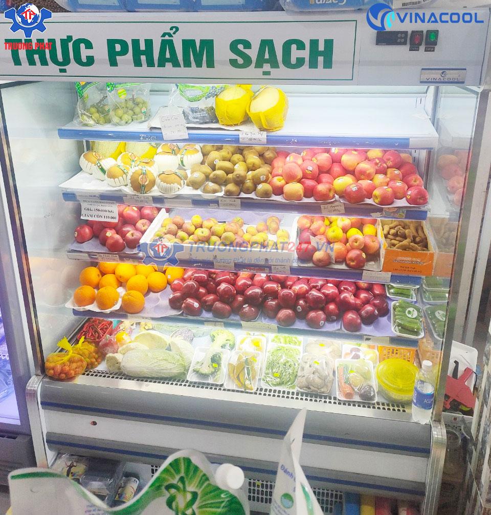 tủ rau củ siêu thị mini dài 1m5