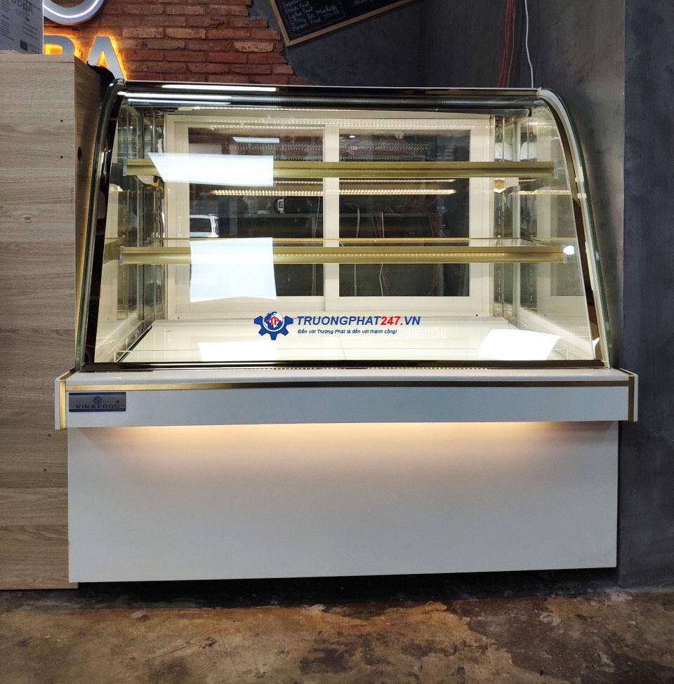 tủ bánh kem 1m2 màu trắng
