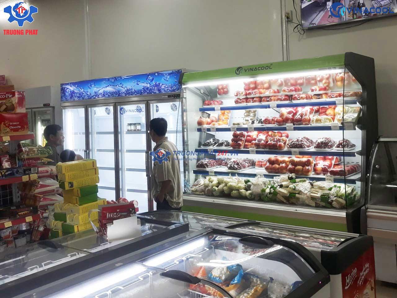 tủ bảo quản trái cây siêu thị