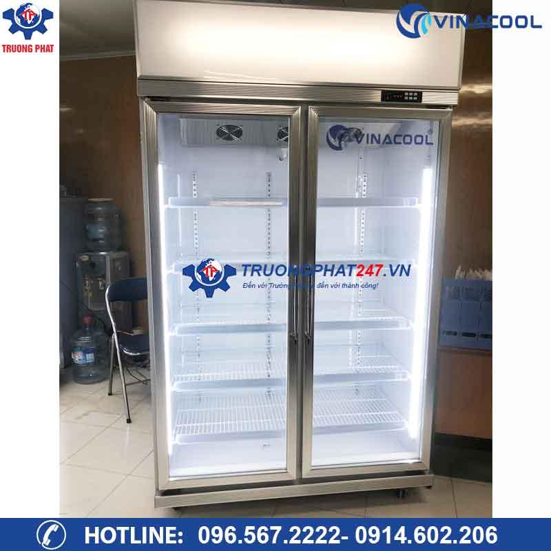 Tủ mát 2 cánh kính đứng Vinacool LG-126 Trắng