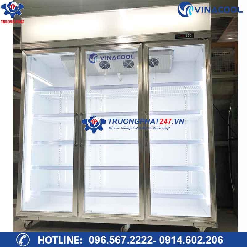 Tủ mát bảo quản 3 cánh kính Vinacool LG-186 Màu Trắng
