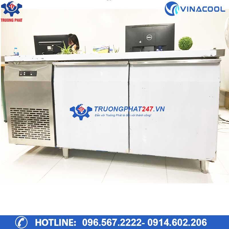 Tủ lạnh bàn chặt inox dài 1m5
