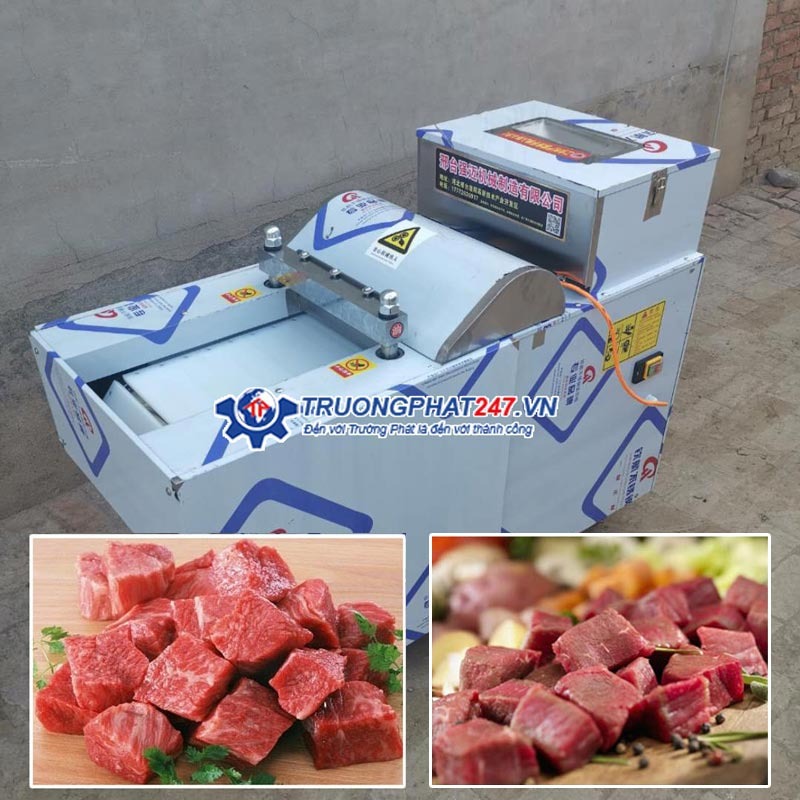 Máy cắt khối thịt hình vuông