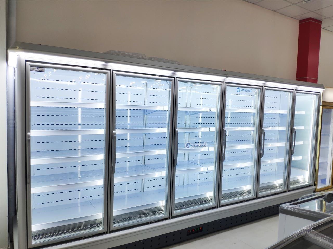 tủ siêu thị cao cấp cánh kính
