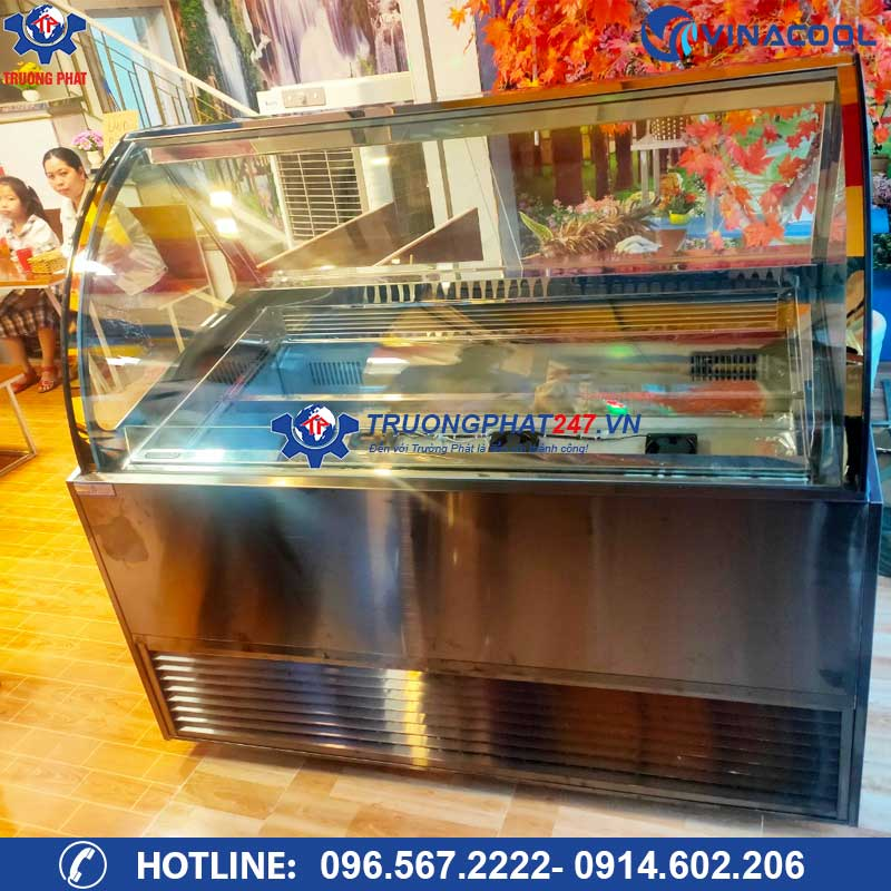 Tủ đông trưng bày kem 16 khay dài 1m5