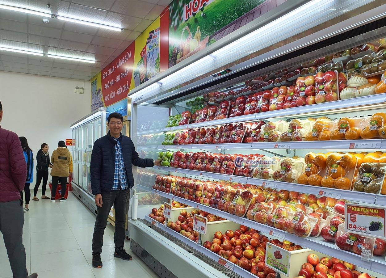 tủ bảo quản trái cây siêu thị cao cấp