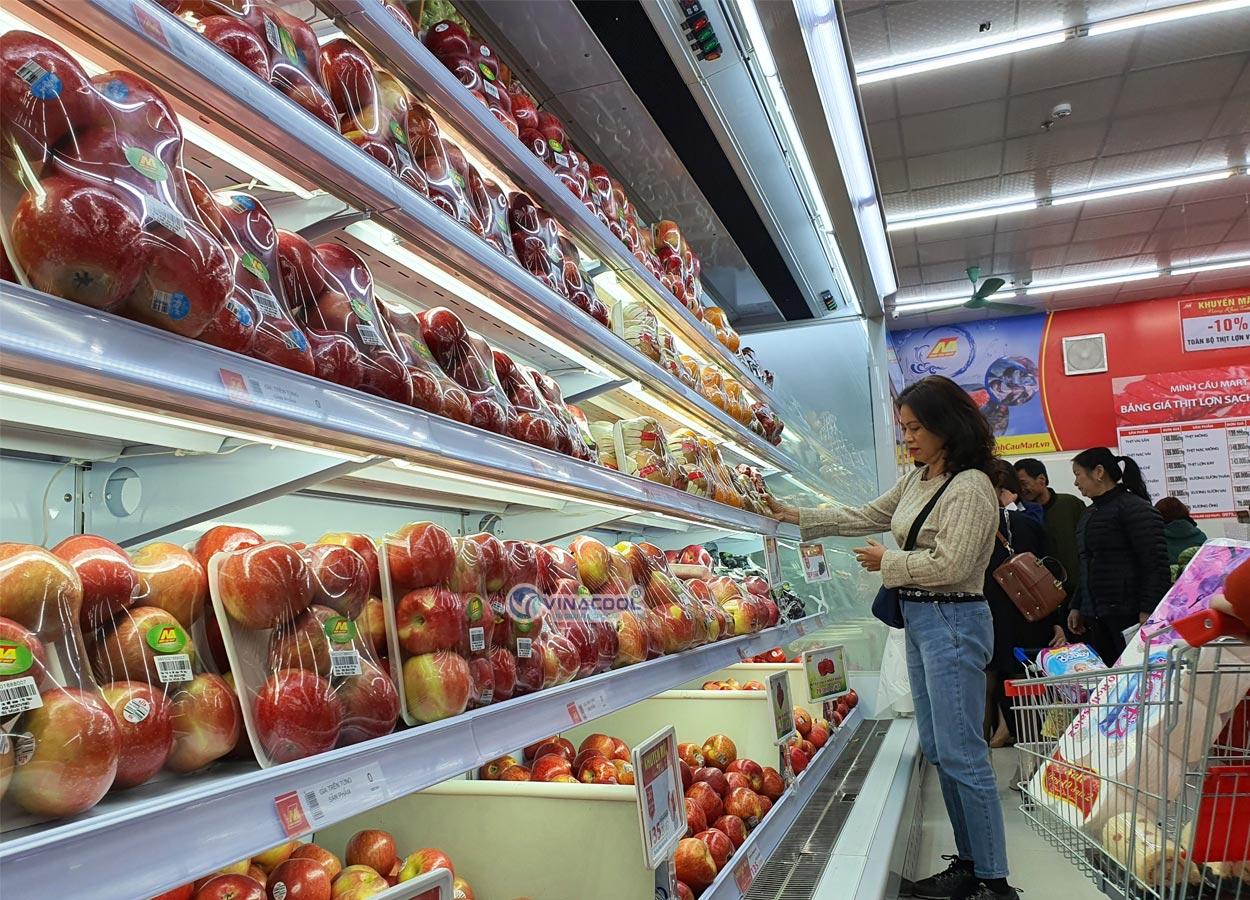 tủ trưng bày trái cây nhập khẩu