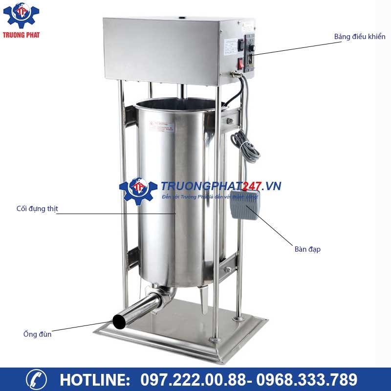 cấu tạo máy nhồi xúc xích 15 lít