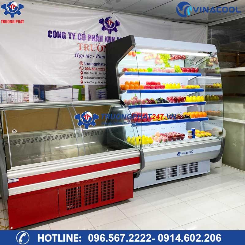 Thanh lý tủ mát trưng bày siêu thị để rau củ quả và thịt cá