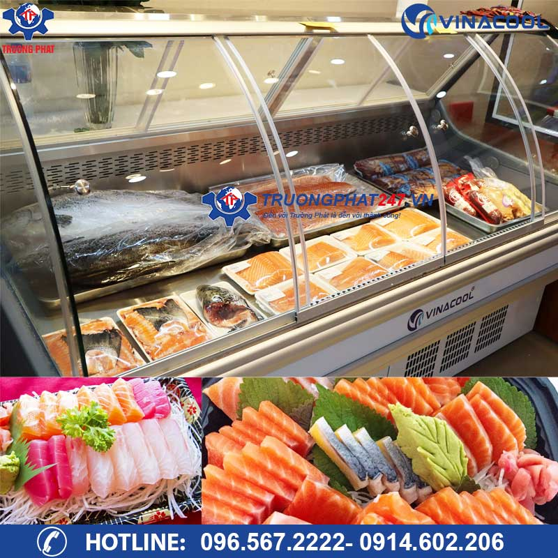 Tủ trưng bày Sashimi cá hồi